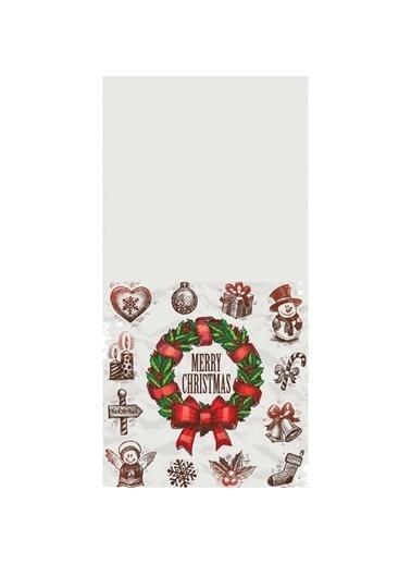 Artikel Renkli Merry Christmas -9  Dekoratif Çift Taraflı Yastık Kırlent Kılıfı 45x45 cm Renkli
